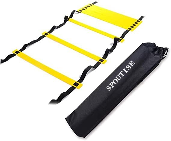 Agility Ladder Speed Training Equipment 12 Rung 20ft Agility Ladder for Kids and Coaches Home Workout Ladder with Carrying Bag for Ground, Improves Speed and Coordination