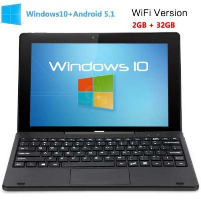 PiPO W1S WiFi 2GB 32GB Intel Z8300 Windows 10 + Android 5.1 Tablet PC 10.1 inch HDMI Black