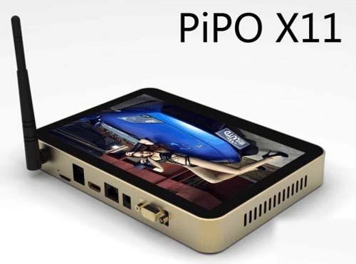 PiPO X11 Mini PC TV Box 8.9 Inch 4GB 64GB Windows 10 & Android 5.1 Intel Cherry Trail Z8350 WiFi HDMI