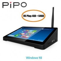 PIPO X9S Mini PC TV Box Windows 10 4G/ 64G 8.9 Inch Intel Z8350 WiFi HDMI - US Plug
