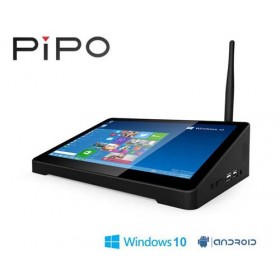 PiPo X9S TV Box 8.9 Inch Mini PC 4GB 64GB Intel Cherry Trail Z8350 Win10 + Android Dual OS WiFi HDMI