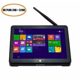 PiPo X8S TV Box 2GB 32GB Mini PC Intel Z3735F Wind10 + Android Dual OS 7 inch HDMI - UK Plug
