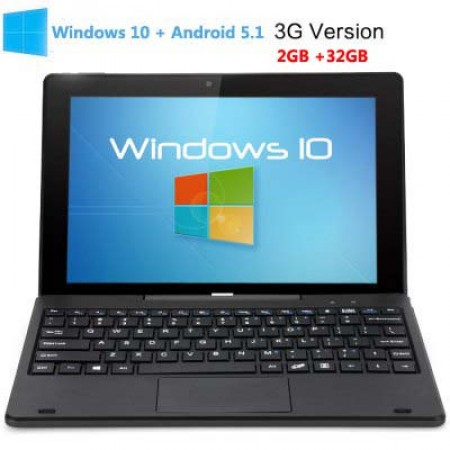 PiPO W1S Windows 10 + Android 5.1 32GB ROM 3G Tablet PC 10.1 inch FHD HDMI Black