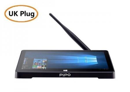 PiPO X12 10.8 Inch Mini PC TV Box 4GB 64GB Intel Z8350 Windows 10 HDMI with Stylus - UK Plug