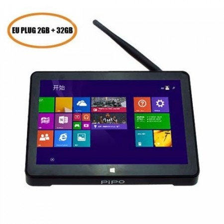 PiPo X8S Dual Boot Mini PC 7 Inch Touch Screen Intel Z3735 Win10 & Android 4.4 2GB 32GB - EU Plug