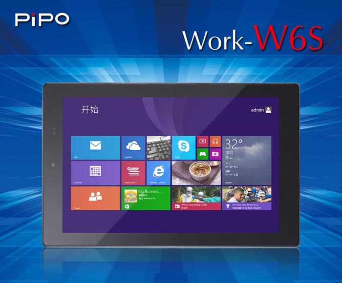 Used PiPo W6S 8 9 Inch Dual Boot 3G Intel Z3735F 64GB ROM Win8 & Android  4 4 Tablet